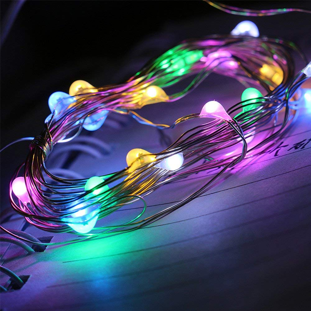 Outdoor String Lights,CQL Dimmable 33ft(10m) 100 LED String Light Copper Wire Light, Waterproof Rope Lights,Warm White, UL Certified for Christmas, Indoor and Outdoor Decoration (Colorful)