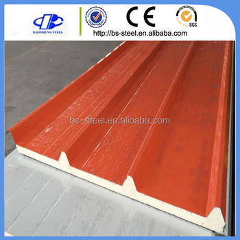 Pvc Waterproof Laminate Flooring Insulated Pu Foam Sandwich Panel