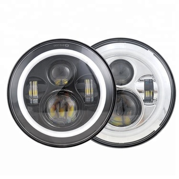 Osram led chip Round 7 inch 45W LED headlight with halo angel eyes & turn signal light for jeep wrangler