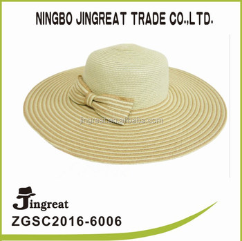 1b0c58a86b1 Ladies Paper Made Woven Wide Brim Sun Visor Hat - Buy Wide Brim ...