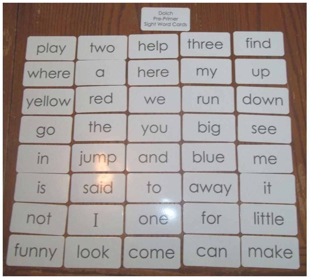 The Entire Dolch Sight Word Set 315 Flashcards.