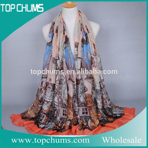 Cheap wholesale scarf satin dhaka shawl