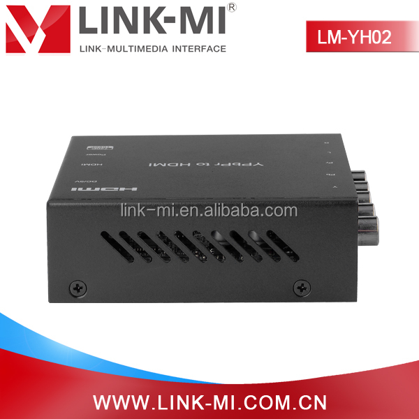 LINK-MI LM-YH02 HDMI Converter Box transforms HD Component video YPbPr and Audio R/L signal to HDMI output