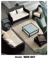 WDF-957 rattan wicker living room sofa set