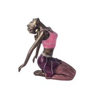 indoor sculpture metal yoga statue antique yoga pose bronze girl sculpture