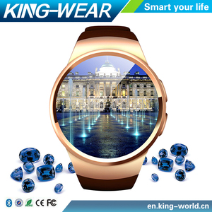 [ In stock ] Kingwear KW18 Bluetooth smart watch full screen Smartwatch Phone Support SIM TF Card Heart Rate for iOS android OS