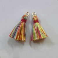 China Manufacture Cheap Decoration Accessory Silk Tassels For Gift