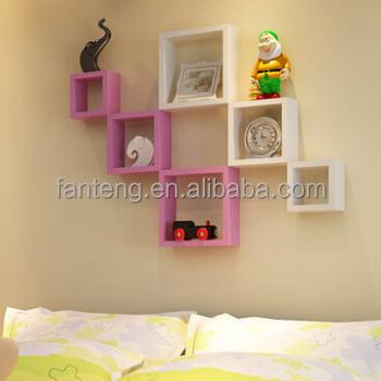 Woonkamer Vierkante Wandplank,Wanddecoratie Plank,Gekleurde ...