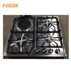 Home cooking appliance 4 burner gas and electric cooktop built in stainless steel cooker