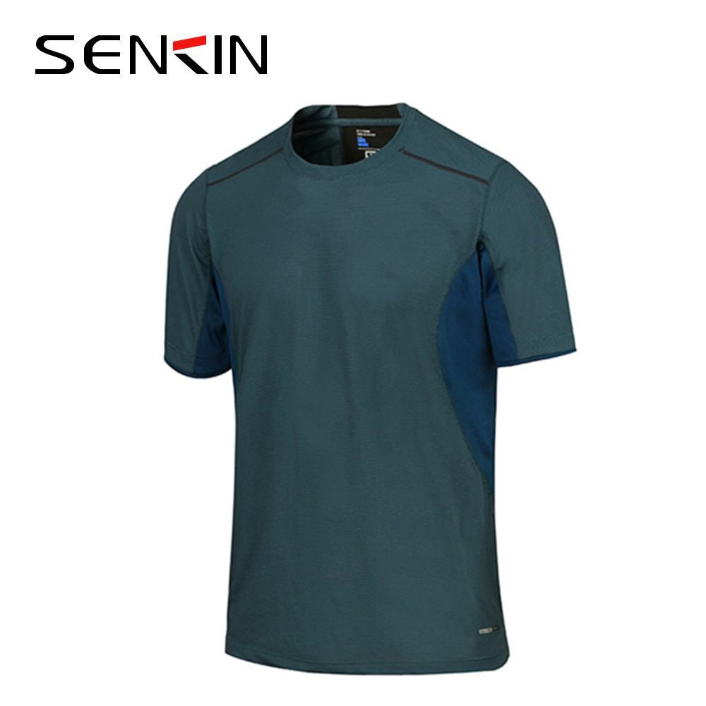 Fitness t shirt men's short sleeve speed dry clothing mesh splice dri-fit fabric t-shirts