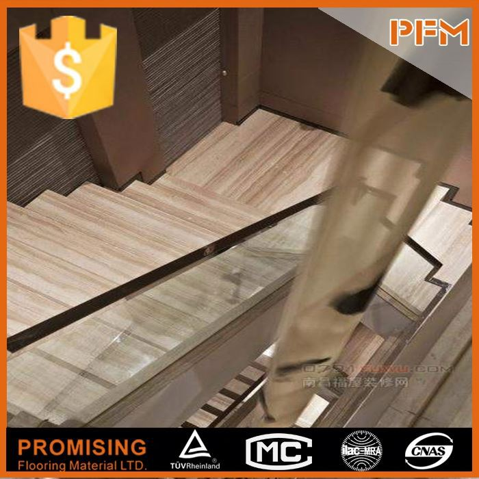 Luxury hotel project interior design stone carborundum insert stair nosing