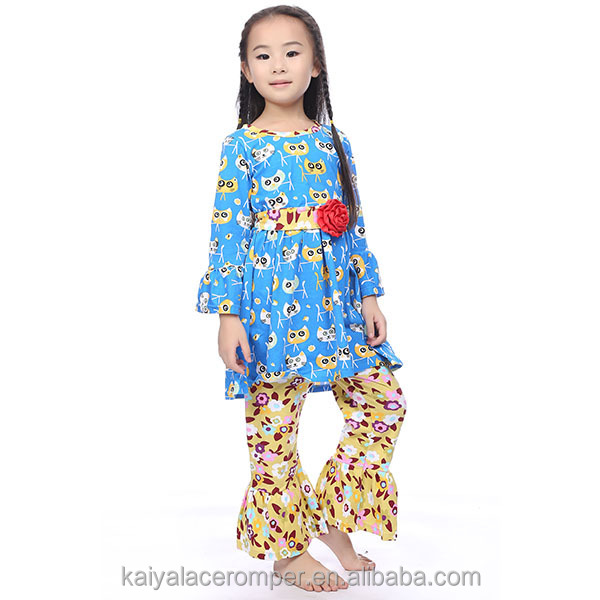 Wholesale Boutique Baby Clothes Girls Floral Ruffle