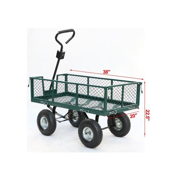 800lbs Outdoor Garden Way Utility Wagon Cart
