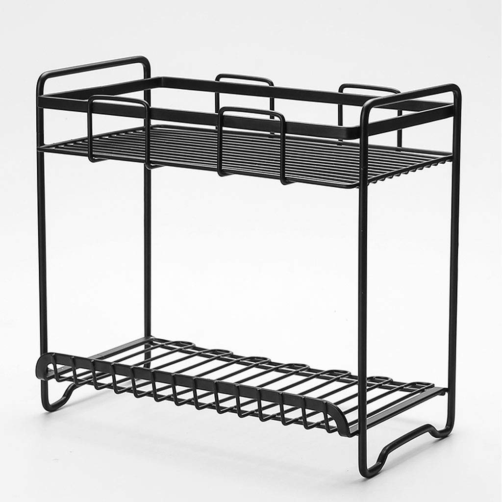 Get Quotations · HY Wrought Iron Bathroom Shelf Free Punching Wall Mounted  Bathroom Floor Standing Vanity Storage