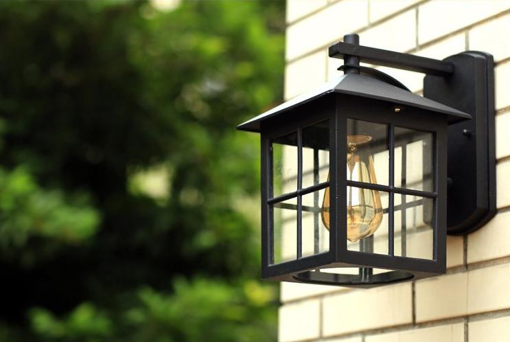 Lanterna Parete Esterno : In stile euro bronzo design esterno della lanterna lampada da