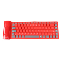 Foldable Rolling up Silicon Silent Bluetooth Keyboard for Tablets/Smart Phone/Laptops/PC