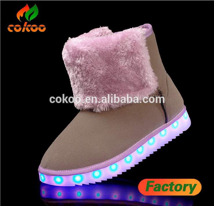 2016 New Design led shoes Keep Warm shoe led light