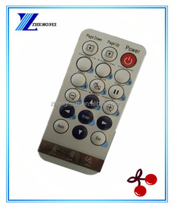 ZF Mini thin Silvery 18 Keys Waterproof Projector ir remote control for Epson Projector