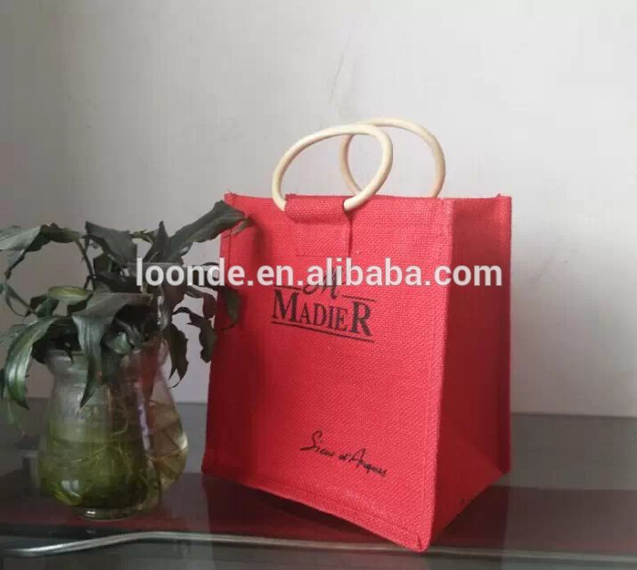 Eco friendly jute market bag or feed sack bag
