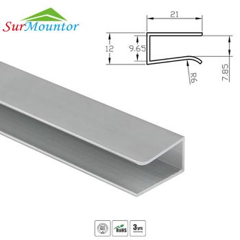 Led Gl Edge Lighting With Aluminum Profile Lights For Shelf Strip Light