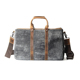 High end hand bags durable cheap comely black canvas real leather handbag vintage briefcase for man