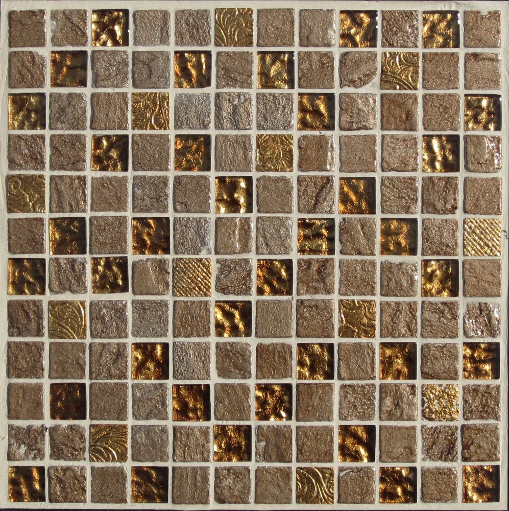 Save cost gold leaf glass mosaic tile tiles and marbles