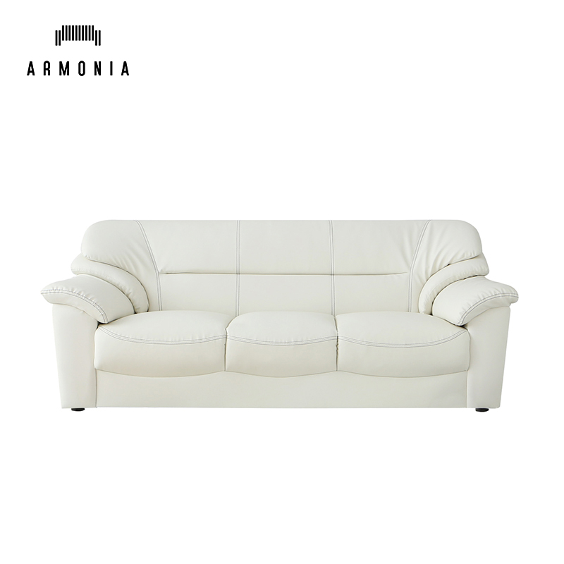 3 Seat furniture modern living room leather <strong>sofa</strong> white