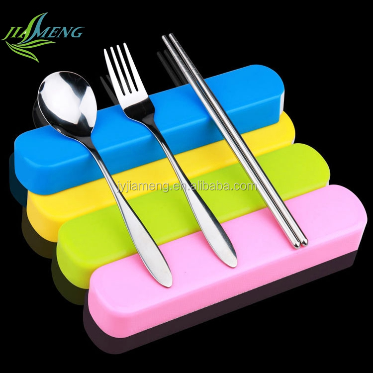 plastic case packing stainless steel traveling flatware with perfect high mirror