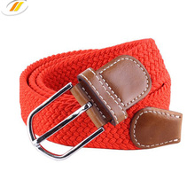 Colorful Elastic Stretch Woven Braided Belt with Alloy Buckle