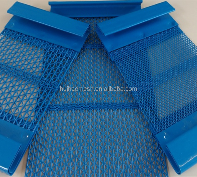 self-cleaning screens with crimped wires with polyurethane cross bands