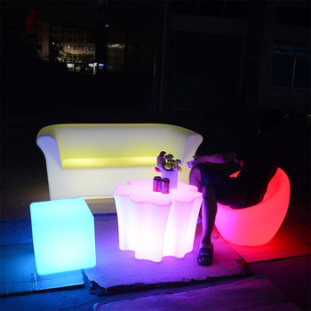 light up furniture modern lounge outdoor led furniture set sectional sofas chair table with lighting