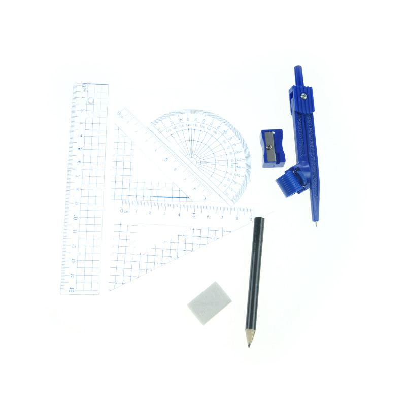 School geometry set 8 pcs for students