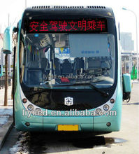 LIYI text, animation date, time, temperature, humidity advertising led bus led destination sign
