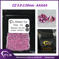 1mm AAAAA pink loose CZ diamond in China