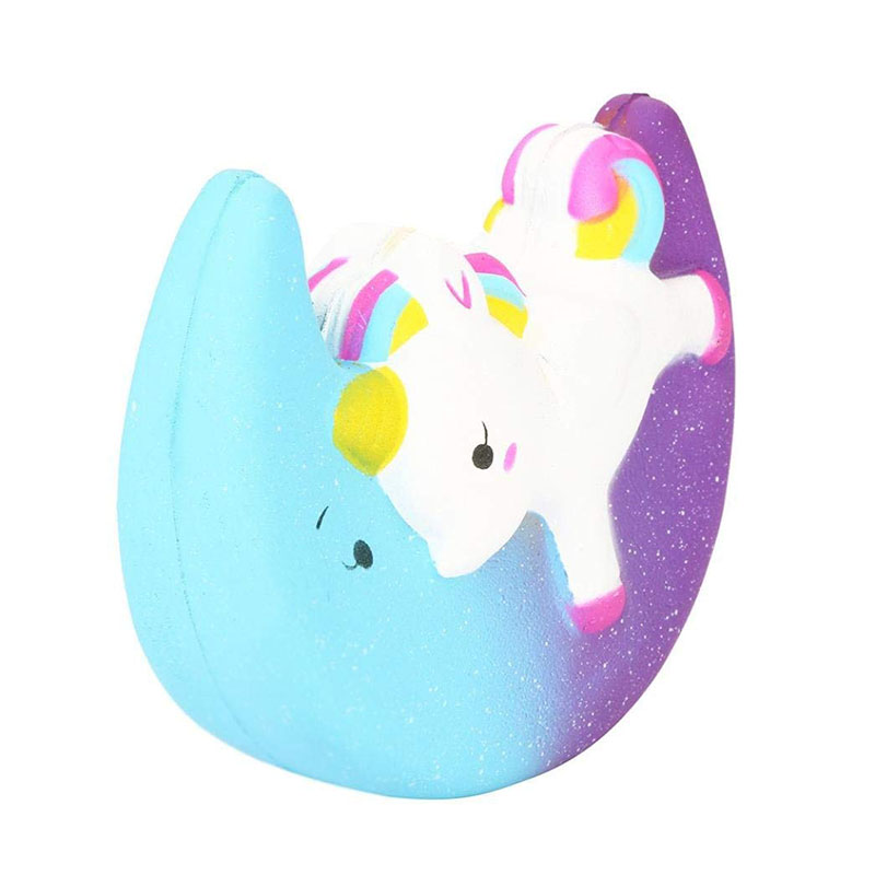 Slow Rising Kawaii Scented Jumbo Soft Galaxy Moon Unicorn Squishy Toy