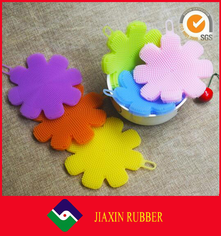 Antibacterial Silicone Dish Scrubber Sponge Brush for Dishwashing, Multi-purpose Cleaning Such as Makeup Brush Cleaner