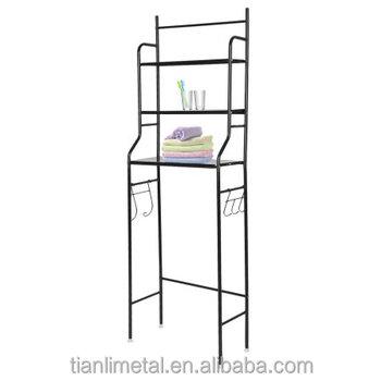 3 Tiers Floorstanding Bathroom Shelf Tower Space Saver Metal Toilet ...