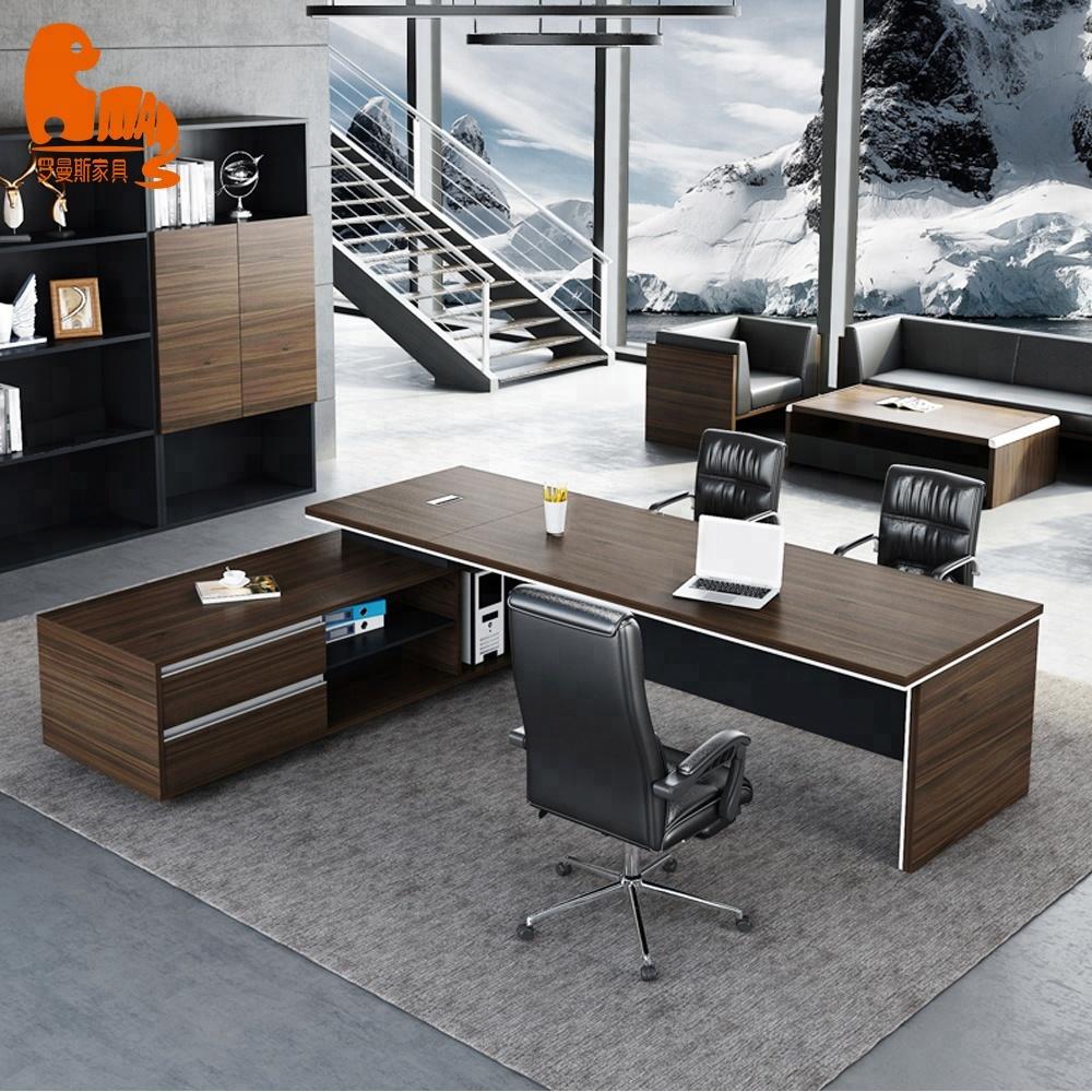 Antique Wood Smart Office Desk Turkish