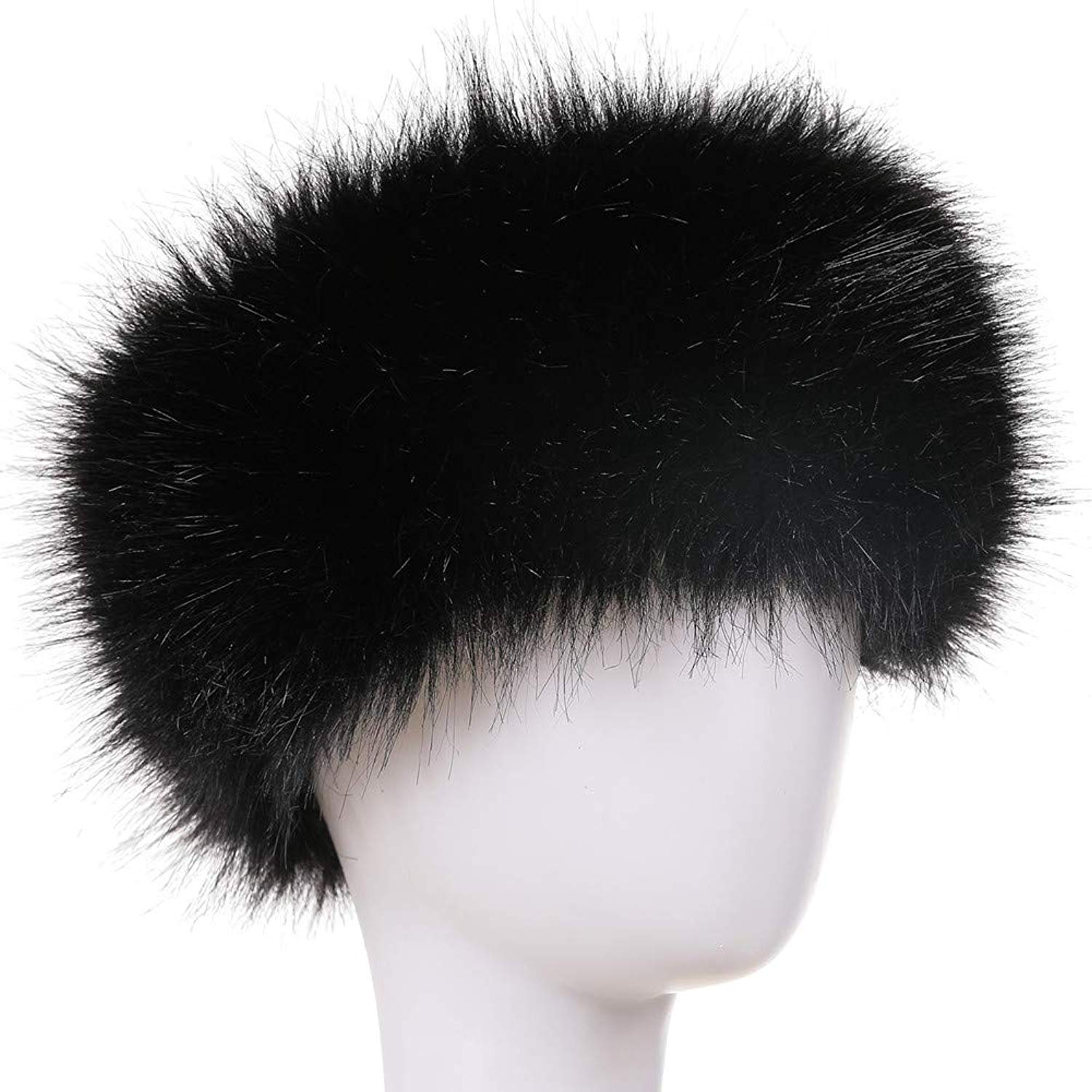 0c0edd3ee23 Get Quotations · Dikoaina Womens Faux Fur Headband Winter Earwarmer Earmuff  Hat Ski