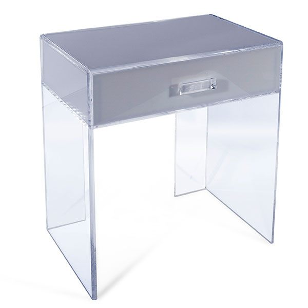 Clear Acrylic Side Table With A Drawer Perspex Lucite Side End Table Coffee  Table Desk Secretaire   Buy Clear Acrylic Acrylic Side Table With A  Drawer,High ...