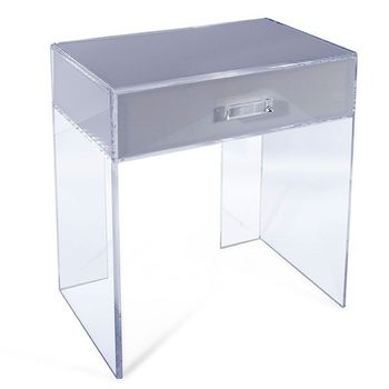 Merveilleux Clear Acrylic Side Table With A Drawer Perspex Lucite Side End Table Coffee  Table Desk Secretaire