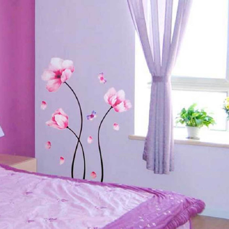 Mosunx Business  Wall Art Decor Removable Mural PVC Decal Home Sticker Lotus Blossom Tree
