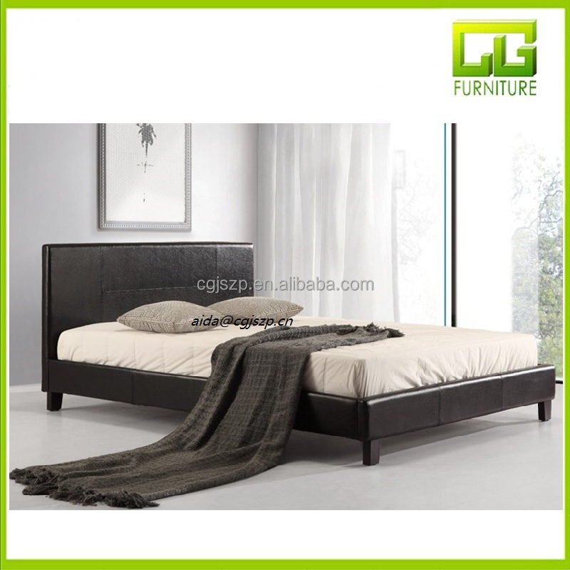Features of the Palermo Queen Bed Frame with PU Leather - Black