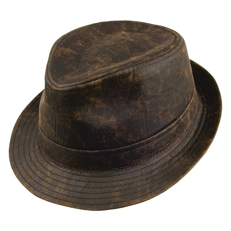 Get Quotations · Jaxon Hats Weathered Cotton Fedora Hat fddc9ae8bc1e