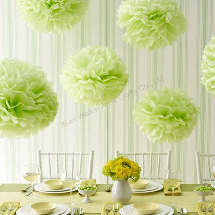 Tissue Paper Pompomsparty Paper Pom Pomscheap Hanging Giant Flower
