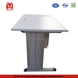 High Efficient Foldable Computer Table / Steel Wheel Foldable Office Desk
