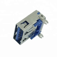 USB 2.0 Female DIP 4 pin connector for cable mobile phone