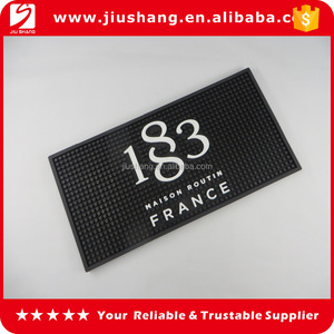 6p free pvc bar drink mats with logos
