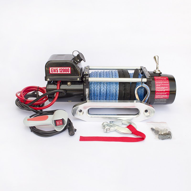 12000LB Electric Winch 12V For Car/Truck/Jeep With Synthetic Rope,12V DC winches 4X4
