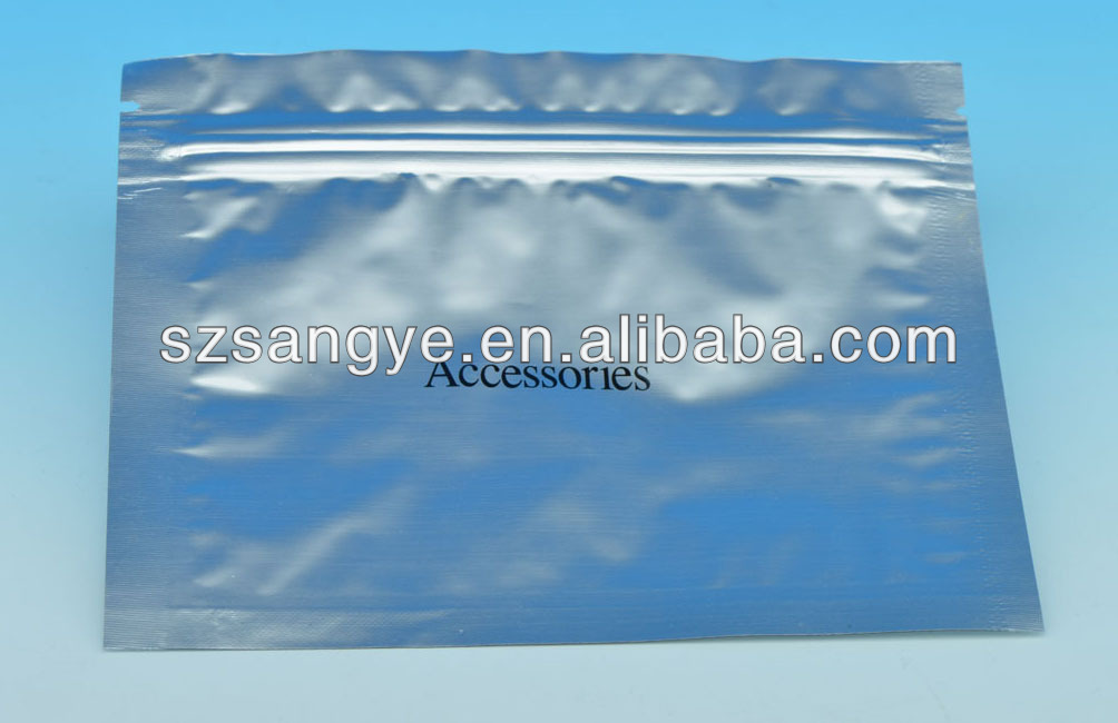 aluminum foil bag for electronic products / antistatic foil dag / foil packaging bag